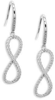 Lafonn Sterling Silver Twisted Drop Earrings