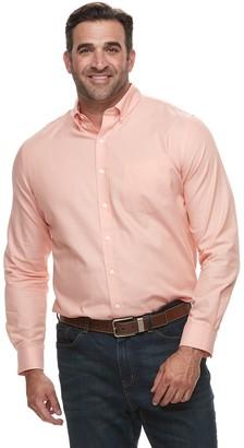 Croft & Barrow Big & Tall Regular-Fit Easy-Care Dobby Button-Down Shirt