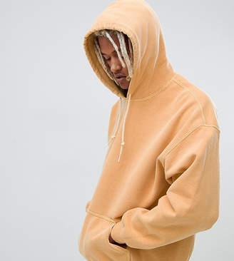 Reclaimed Vintage inspired overdye hoodie in yellow