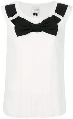 Edward Achour Paris bow sleeveless top