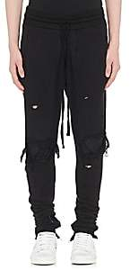 Amiri Men's MX1 Leather-Inset Cotton Sweatpants-Black