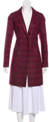 Tory Burch Tweed Embroidered Coat