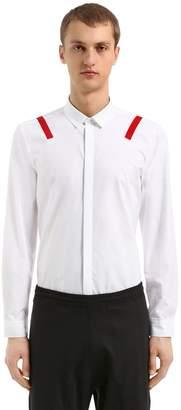 Neil Barrett Slim Fit Printed Cotton Poplin Shirt