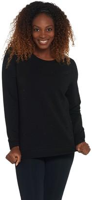 Susan Lucci Collection Studded Long Sleeve Crew Sweatshirt