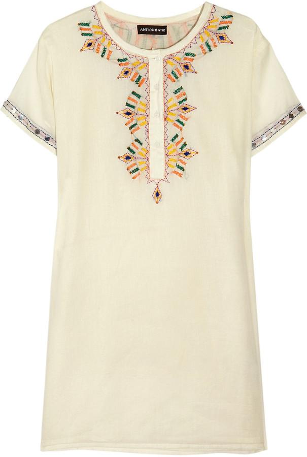 Antik Batik Embroidered cotton dress