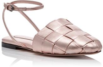 Marco de Vincenzo Basket Weave Sandals $745 thestylecure.com