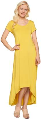 Halston H By H by Regular Hi-Low Hem Knit Maxi Dress