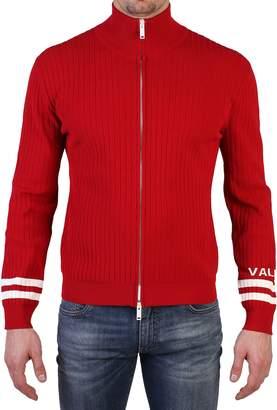 Valentino Red Zipped Cardigan