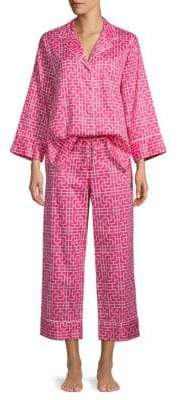 Natori Two-Piece Graphic Cotton Pajama Set