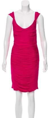 Zac Posen Sleeveless Ruched Dress