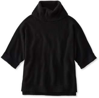 L.L. Bean L.L.Bean Merino-Blend Sweater Poncho, Cowlneck