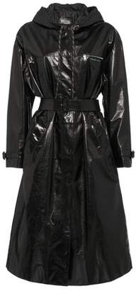 Prada Hooded Leather Trench Coat