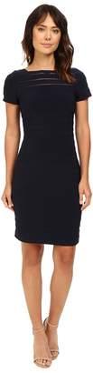 Adrianna Papell Short Sleeve Banded Dress w/ Back Detail Women's Dress