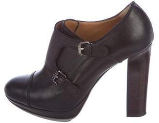 Lanvin Leather Buckle Booties
