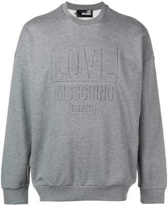 Love Moschino embossed logo sweatshirt