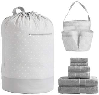 Pottery Barn Teen Sunburst St Shower Laundry Set, Gray