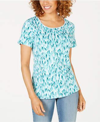 Karen Scott Printed Scoop-Neck T-Shirt