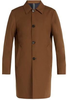Privee Salle Salle Mathys Cotton Blend Raincoat - Mens - Brown
