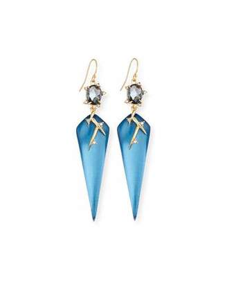 Alexis Bittar Lucite Thorn Drop Earrings, Blue $265 thestylecure.com