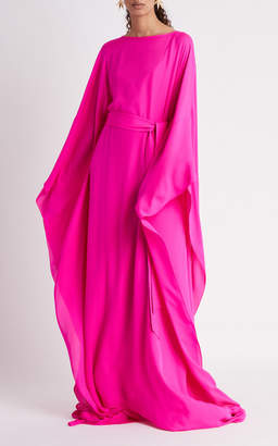 Oscar de la Renta Caftan With Self Belt And Oversized Sleeves