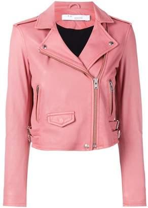 IRO zip detail leather jacket