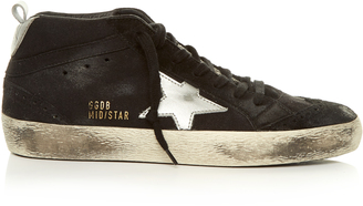 GOLDEN GOOSE DELUXE BRAND Midstar suede trainers $480 thestylecure.com