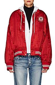 Undercover Women's Patch-Appliquéd Silk Satin Varsity Jacket - Red