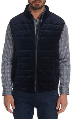 Robert Graham Men's Guiffery Quilted Velvet Vest