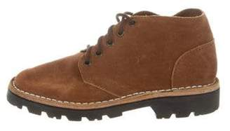 Brother Vellies Suede Lace-Up Booties Suede Lace-Up Booties