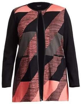Misook Misook, Plus Size Abstract Detail Jacket