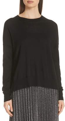 Derek Lam 10 Crosby Tissue Weight Boxy Crewneck Sweater