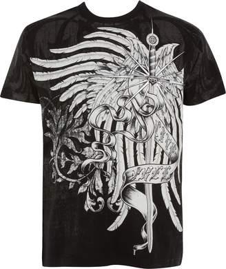 Celtic Sakkas T784 - Kellan Mystic Eagle And Cross Graphic Mens T-Shirt - M