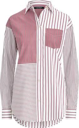 Ralph Lauren Striped Patchwork Cotton Shirt