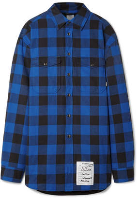 Vetements Oversized Checked Cotton-flannel Shirt - Blue