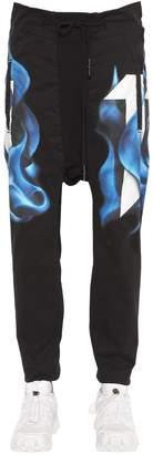 11 By Boris Bidjan Saberi Printed Cotton Jersey Jogging Pants