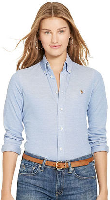 Polo Ralph Lauren Knit Cotton Oxford Shirt $98.50 thestylecure.com