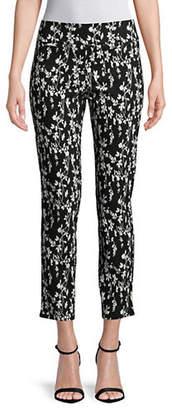 Isaac Mizrahi IMNYC Floral-Print Slim Straight Pants