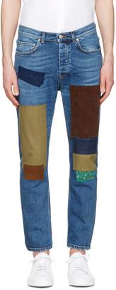 Acne Studios Indigo Town Patch Jeans $310 thestylecure.com