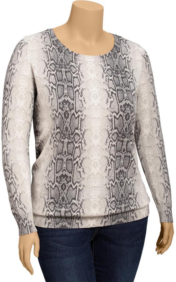 Old Navy Women's Plus Snakeskin Print Pullovers