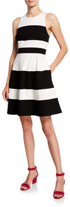 Kate Spade Striped A-Line Ponte Dress