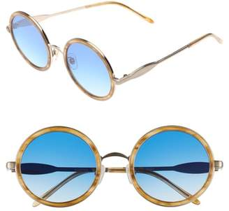 Wildfox Couture Ryder Zero 49mm Flat Round Sunglasses