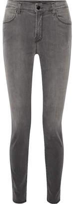 J Brand Maria High-rise Skinny Jeans - Dark gray