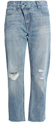 Rag & Bone Wicked Cropped Distressed Boyfriend Jeans