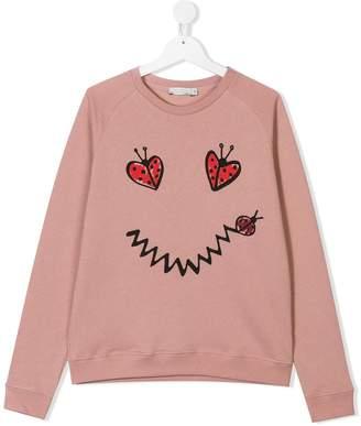 Stella McCartney TEEN ladybug-print sweatshirt