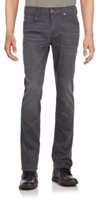7 For All Mankind Slimmy Washed Five-Pocket Jeans