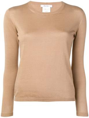 Max Mara fitted crew neck jumper