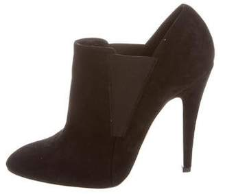 Casadei Suede Pointed-Toe Booties $160 thestylecure.com