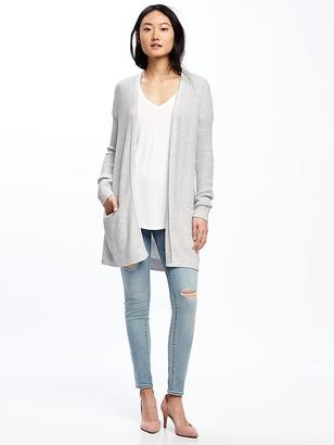 Long Textured Open-Front Cardi for Women $39.94 thestylecure.com