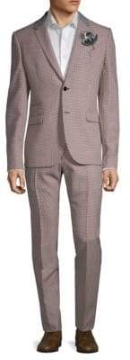 Valentino Mini Checkered Wool Suit