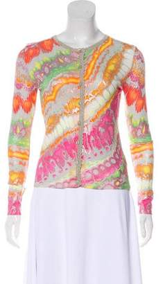 Blumarine Printed Long Sleeve Cardigan